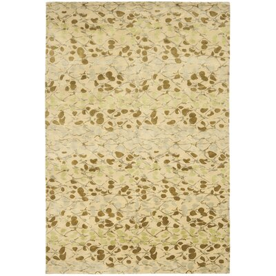 Martha Stewart Abstract Trellis Sprout Beige Area Rug Rug Size: 6 x 9