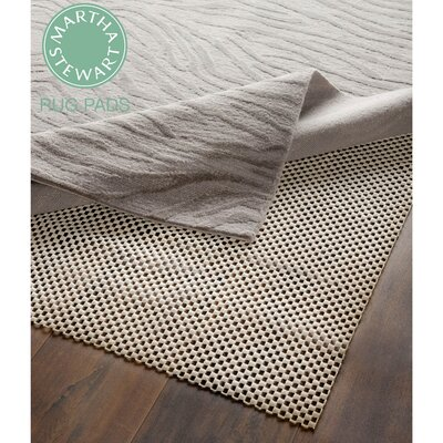 Martha Stewart Padding Grey Area Rug Pad Rug Size: Rectangle 4 x 6