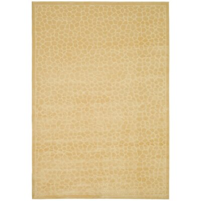 Martha Stewart Reptilian Creme Area Rug Rug Size: Rectangle 27 x 4