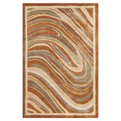 Martha Stewart Marble Swirl Oct Leaf Red Geometric Area Rug Rug Size: Rectangle 56 x 86