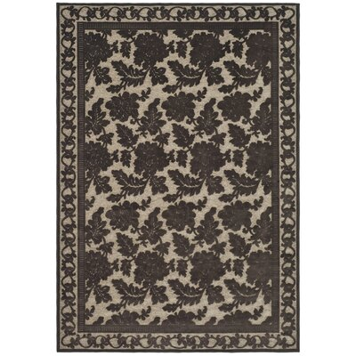 Martha Stewart Peony Light Brown/Tan Area Rug Rug Size: Rectangle 53 x 76