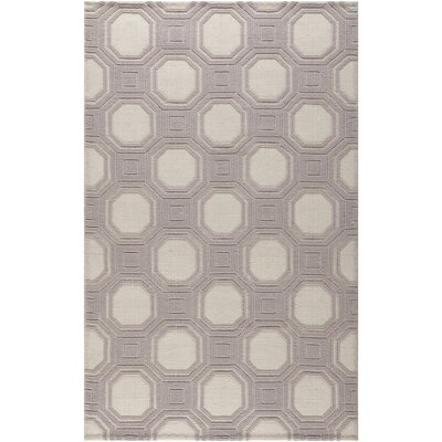 Martha Stewart Puzzle Floral Ivory/Purple Area Rug Rug Size: Rectangle 4 x 6