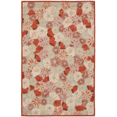 Poppy Field Hand-Tufted Cayenne Red Area Rug Rug Size: Rectangle 96 x 136