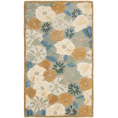 Martha Stewart Cornucopia Bge Blue Area Rug Rug Size: Rectangle 26 x 43
