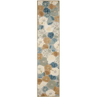 Martha Stewart Cornucopia Bge Blue Area Rug Rug Size: Runner 23 x 10