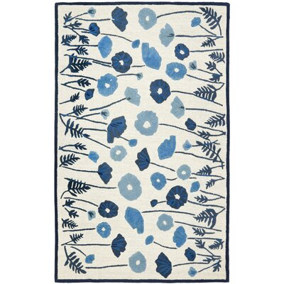 Martha Stewart Azurite Blue Area Rug Rug Size: Rectangle 26 x 43