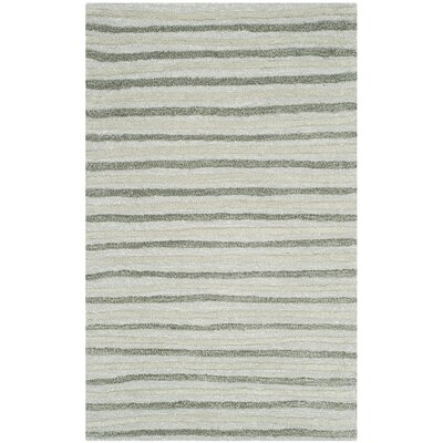 Martha Stewart Nmbus Cloud Gray Area Rug Rug Size: 96 x 136
