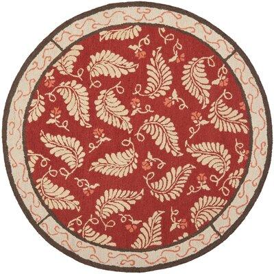Martha Stewart Saffron Red Area Rug Rug Size: Round 6'