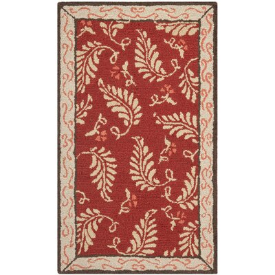 Martha Stewart Saffron Red Area Rug Rug Size: Rectangle 2'6