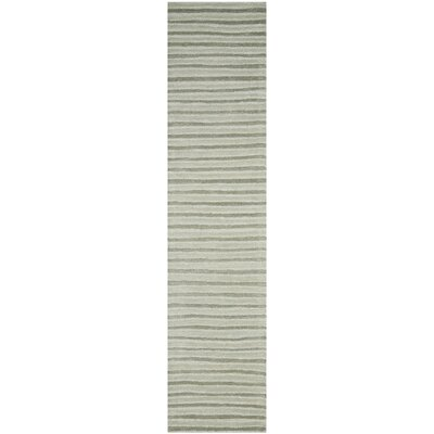 Martha Stewart Nmbus Cloud Gray Area Rug Rug Size: Runner 23 x 10