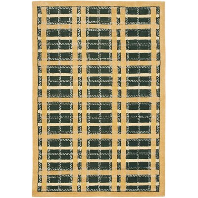 Hand-Tufted Cornucopia Gold Area Rug Rug Size: Rectangle 96 x 136