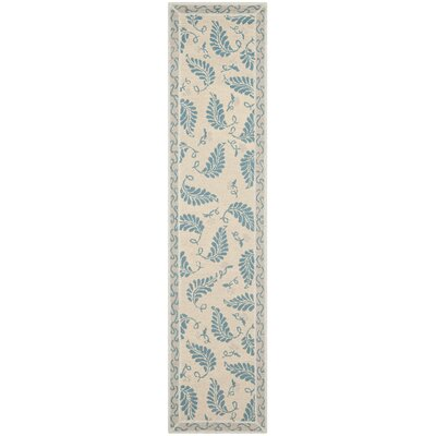 Martha Stewart Plumage Blue Area Rug Rug Size: Runner 23 x 10