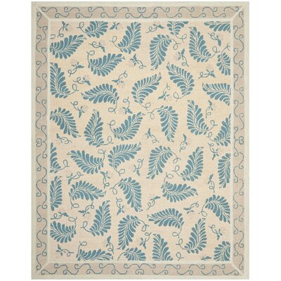 Martha Stewart Plumage Blue Area Rug Rug Size: Rectangle 96 x 136