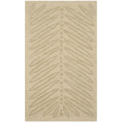Martha Stewart Oolong Tea Green Area Rug Rug Size: 26 x 43