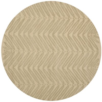Martha Stewart Oolong Tea Green Area Rug Rug Size: Round 6
