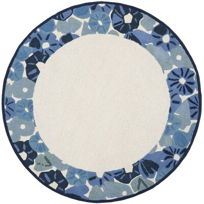 Martha Stewart Azurite Ivory/Blue Area Rug Rug Size: Rectangle 4 x 6