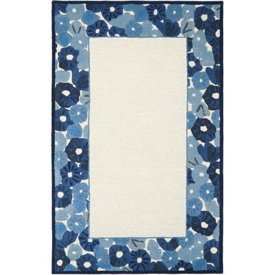 Martha Stewart Azurite Ivory/Blue Area Rug Rug Size: Rectangle 9 x 12