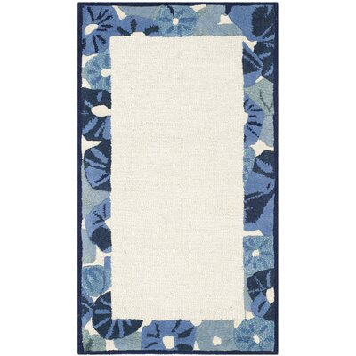 Martha Stewart Azurite Ivory/Blue Area Rug Rug Size: Rectangle 26 x 43