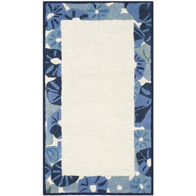 Martha Stewart Azurite Ivory/Blue Area Rug Rug Size: 4 x 6
