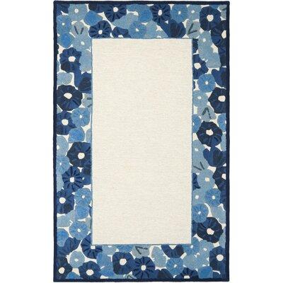 Martha Stewart Azurite Ivory/Blue Area Rug Rug Size: 5 x 8
