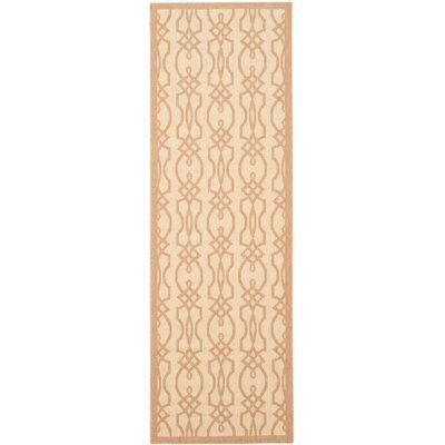 Martha Stewart Villa Screen Tan/Ivory Area Rug Rug Size: Rectangle 27 x 5