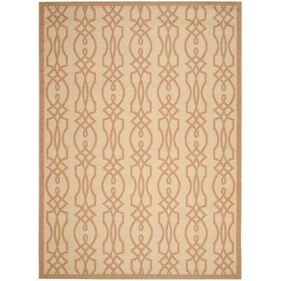 Martha Stewart Villa Screen Tan/Ivory Area Rug Rug Size: 8 x 112