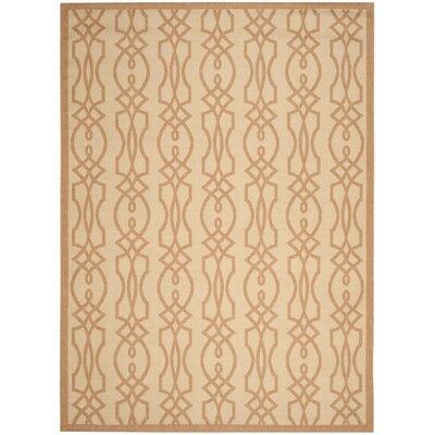 Martha Stewart Villa Screen Tan/Ivory Area Rug Rug Size: Rectangle 8 x 112