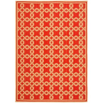 Martha Stewart Red/Creme Area Rug Rug Size: Runner 27 x 82
