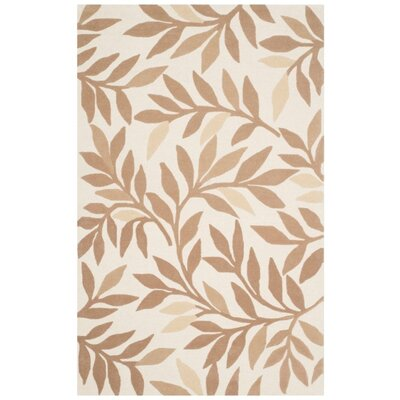 Martha Stewart Charleston Tufted / Hand Loomed Light Brown/Ivory Area Rug Rug Size: 5 x 8