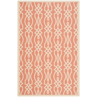 Martha Stewart Villa Screen Orange/Beige Area Rug Rug Size: Rectangle 53 x 77