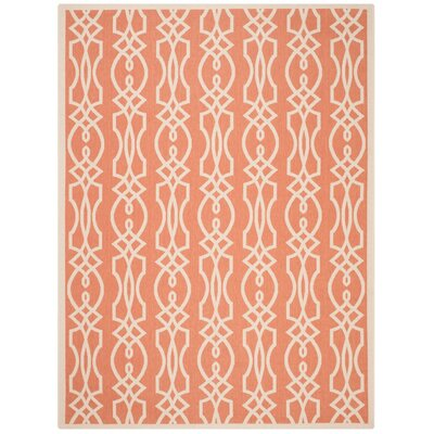 Martha Stewart Villa Screen Orange/Beige Area Rug Rug Size: Rectangle 67 x 96