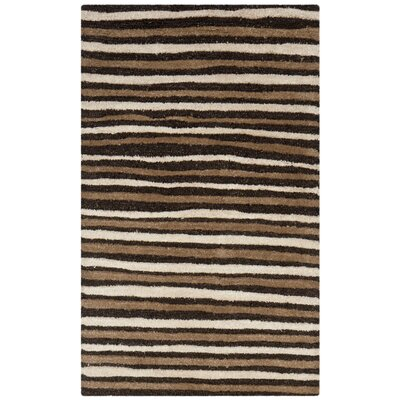 Martha Stewart Tilled Soil Brown Area Rug Rug Size: 96 x 136
