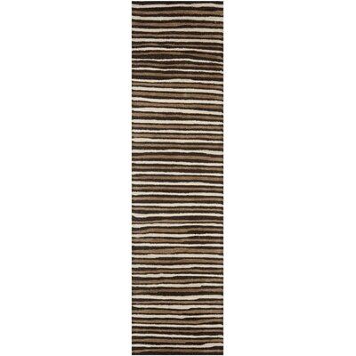 Martha Stewart Tilled Soil Brown Area Rug Rug Size: Runner 23 x 10