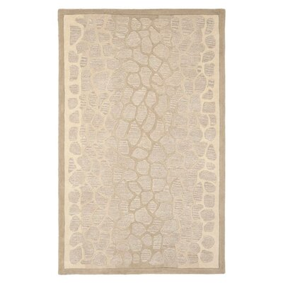 Martha Stewart B Wheat F Sharkey Gray Area Rug Rug Size: 96 x 136
