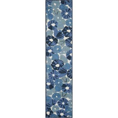 Martha Stewart Azurite Blue Area Rug Rug Size: Runner 23 x 10