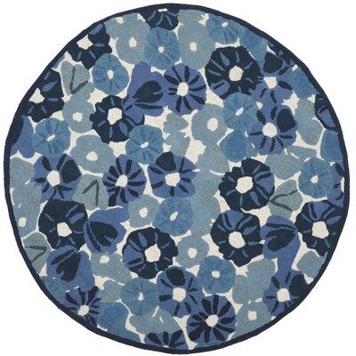 Martha Stewart Azurite Blue Area Rug Rug Size: Round 6