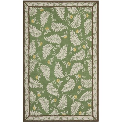 Martha Stewart China Mar Green Area Rug Rug Size: 5 x 8