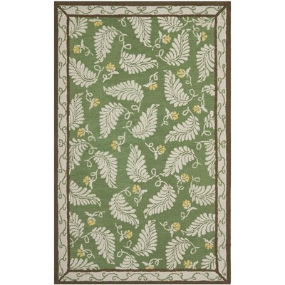 Martha Stewart China Mar Green Area Rug Rug Size: 96 x 136