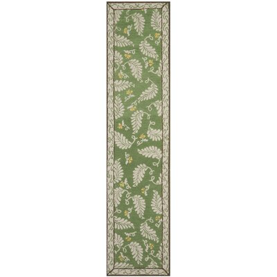 Martha Stewart China Mar Green Area Rug Rug Size: Runner 23 x 10