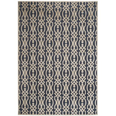 Martha Stewart Villa Screen Azurite Blue Area Rug Rug Size: Rectangle 4 x 57