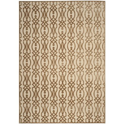Martha Stewart Villa Screen Beige Area Rug Rug Size: Rectangle 27 x 4