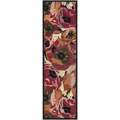 Martha Stewart Hand-Tufted Red/Brown Area Rug Rug Size: Runner 23 x 8