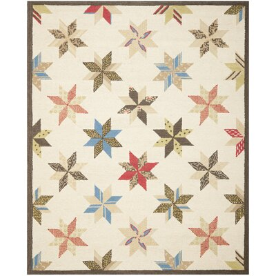 Martha Stewart Bone Folder Wht Area Rug Rug Size: Rectangle 26 x 43