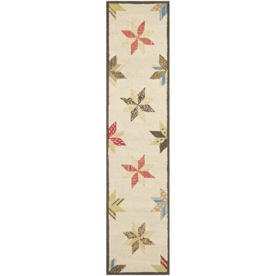 Martha Stewart Bone Folder Wht Area Rug Rug Size: Runner 23 x 10