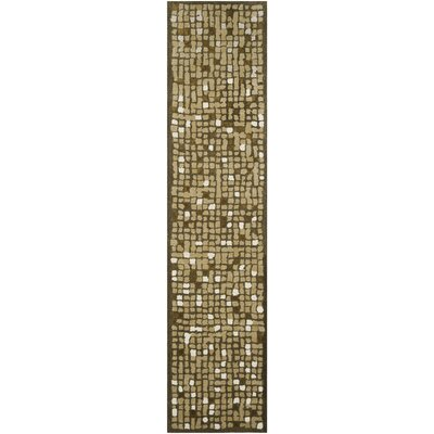 Martha Stewart Oolong Tea Green Area Rug Rug Size: Runner 23 x 10
