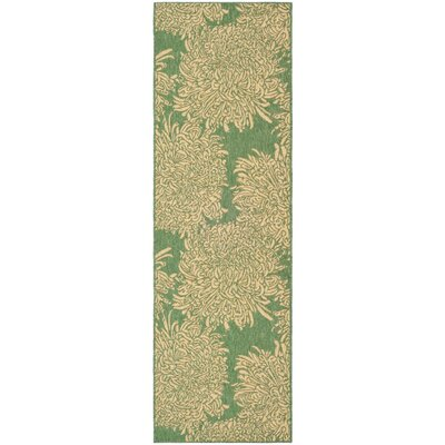 Martha Stewart Tan/Green Area Rug Rug Size: Runner 27 x 82