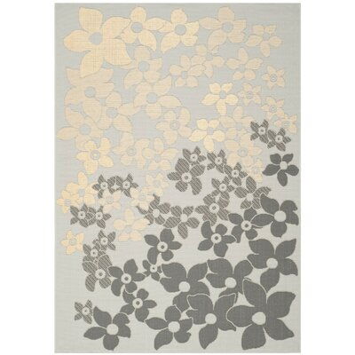 Martha Stewart Field Flowers Multi Area Rug Rug Size: 53 x 77