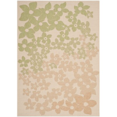 Martha Stewart Beige/Green Area Rug Rug Size: Rectangle 53 x 77