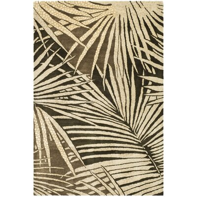 Martha Stewart Coconut/Brown Area Rug Rug Size: 26 x 43