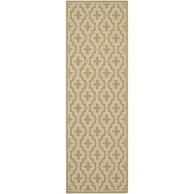 Martha Stewart Green/Beige Area Rug Rug Size: Rectangle 4 x 57